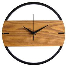 Wooden Wall Clock Modern Design Battery Wall Watch Mechanism Bedroom Decoration Gifts Relogio Parede Home Silent Clocks WZH726(China)