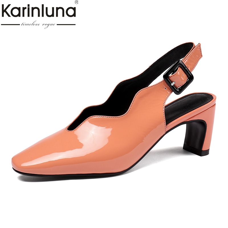 En Noir Mode Taille Vache Grande Ol Sandales Femme Pour Dames 34 Femmes 42 Cuir De Talons Hauts Noir Chaussures D'été Brevet blanc Sexy orange xqIEYpwx