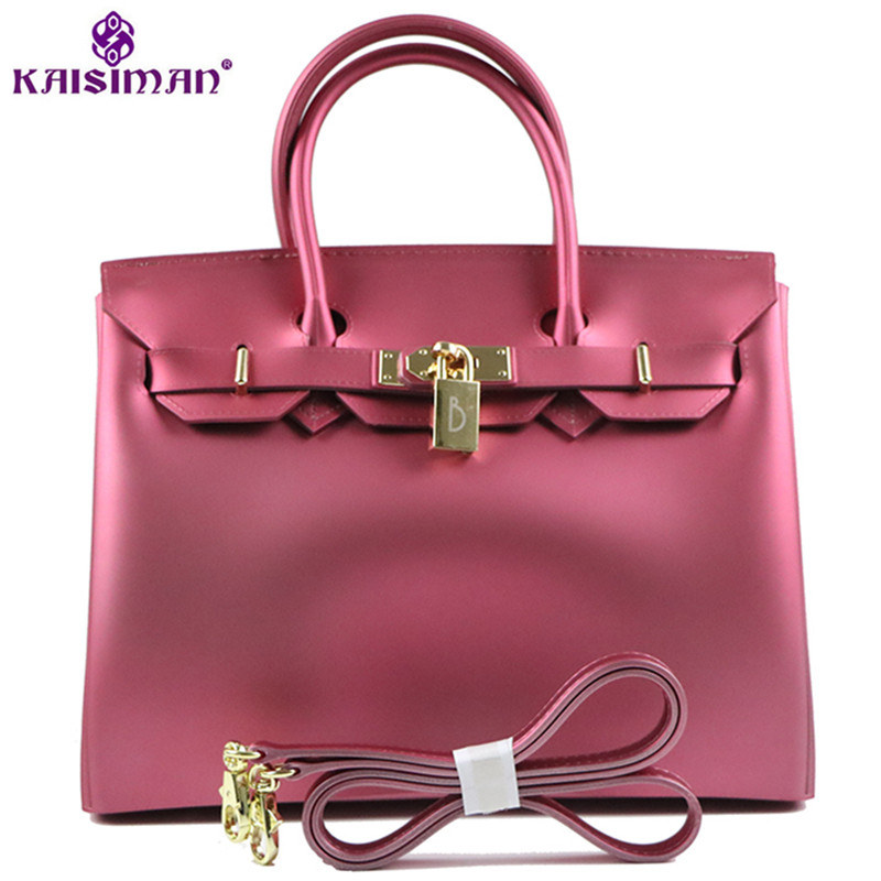 2018 Luxury Fashion Women Tote Bags Platinum Handbag Famous Brand Lock Designer Women Top-handle Bags Big Jelly Shoulder Bag Sac2018 Luxury Fashion Women Tote Bags Platinum Handbag Famous Brand Lock Designer Women Top-handle Bags Big Jelly Shoulder Bag Sac