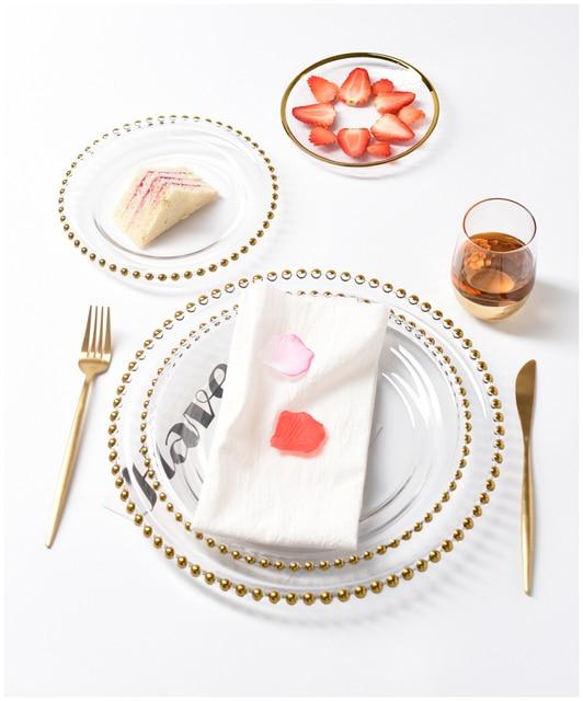 HTB1b7DWLgHqK1RjSZJnq6zNLpXa6.jpg 640x640 - dinnerware - Nordic Gold Bead Glass  Wedding Plates