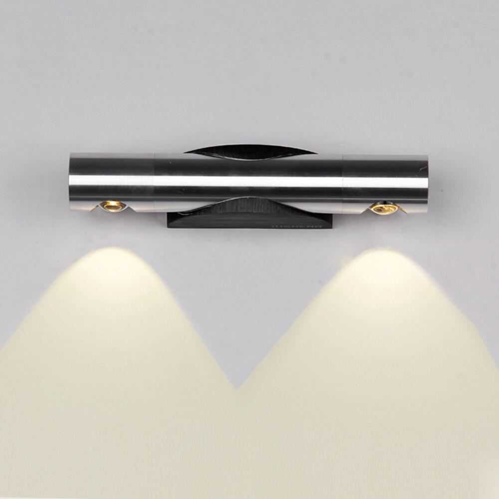 Tanbaby бра алюминий светильники настенные 2 Вт 6 Вт LED Настенные светильники 360 градусов вращения стены светильник Белый бра светильники для дома arandelas пункт parede белый Главная украшение