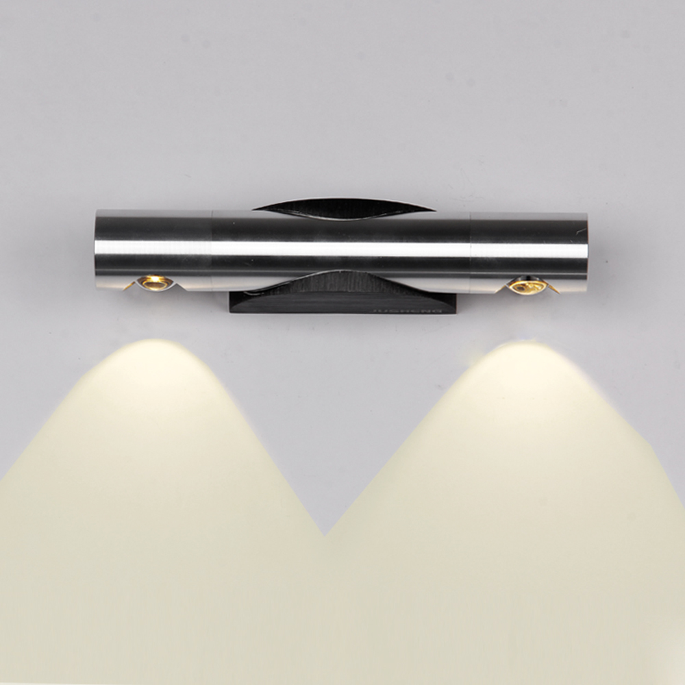 Tanbaby 2W 6W LED Wall lamps 360 degree rotation wall lighting fixture White <font><b>sconces</b></font> lights for home arandelas para parede
