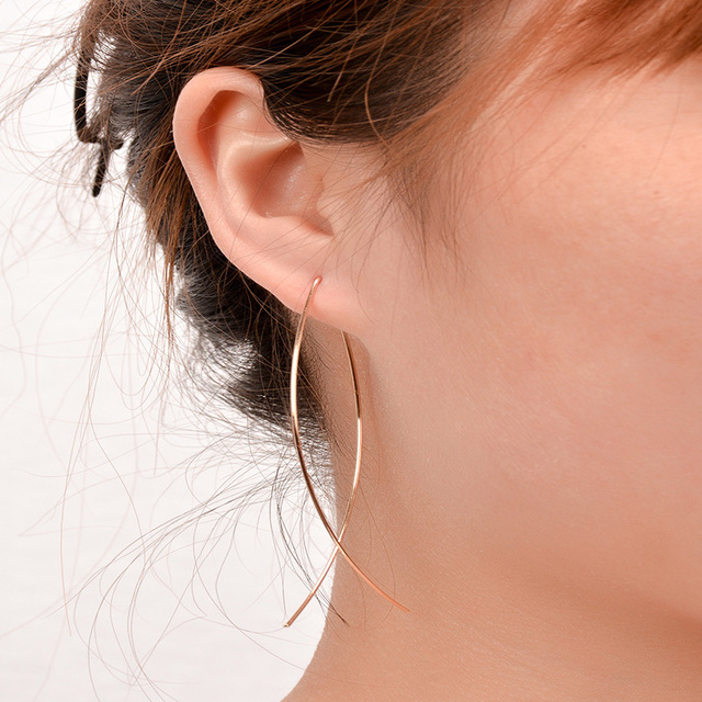 Simple Geometric Open Hoop Earrings