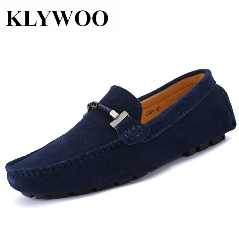 KLYWOO Big Size 47 Fashion Men Casual shoes Cow Suede Leather Shoes Men Loafers Driving Moccasins Slip on Shoes Men Comfortable npezkgc new casual mens shoes suede men loafers moccasins fashion low slip on men flats shoes oxfords shoes big size 45 46 47 48