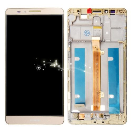 A Replacement LCD Display Digitizer Touch Screen Glass Assembly For Huawei Mate 7 with Frame free shipping