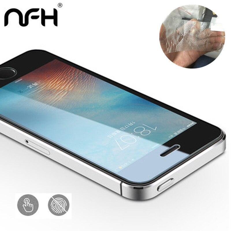 1 шт. 3 шт. 5 шт. много Экран протектор Закаленное Стекло для iPhone <font><b>5S</b></font> <font><b>SE</b></font> 5 5C нет отпечатков пальцев премиум Защитный чехол на <font><b>5S</b></font>