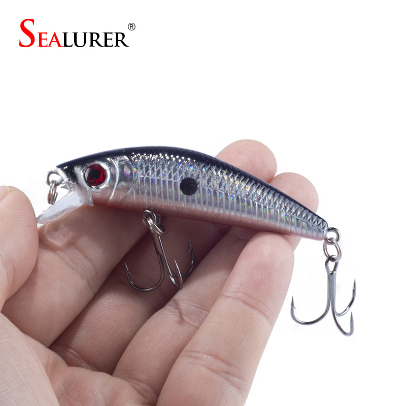 Sealurer Brand Lifelike Minnow Fishing Lure 7CM 8.5G 6# Hooks Fish Wobbler Tackle Crankbait Artificial Japan Hard Bait Swimbait 1pcs laser minnow fishing lure 11cm 13g pesca hooks fish wobbler tackle crankbait artificial japan hard bait swimbait
