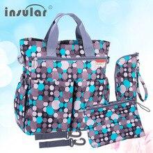 Insular mode baby wickeltasche windelbeutel wasserdicht wickeltasche multifunktionale mommy bag versandkostenfrei