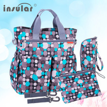 Insular Fashion Baby Diaper Bag Nappy Bags Waterproof Changing Bag Multifunctional Mommy Stroller Bag