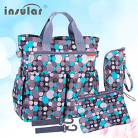 2015 Hot Sales Free Shipping Colorful Baby Diaper Bag Nappy Bags Waterproof Changing Bag Multifunctional Mommy