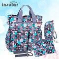 Insular de moda del pañal del bebé bolso cambiador multifuncional bolsa de mamá bolsa de bolsas de pañales impermeables envío gratis