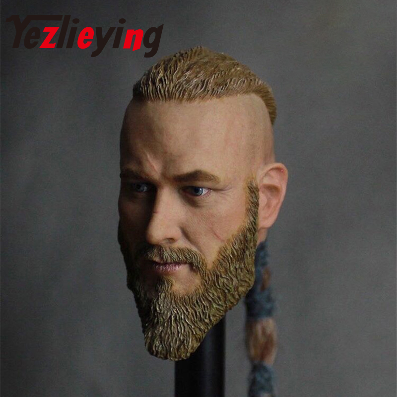 Delicate man 1/6 male scale Viking head sculpture Travisfummer male action modeling model 12 male action figure accessories
