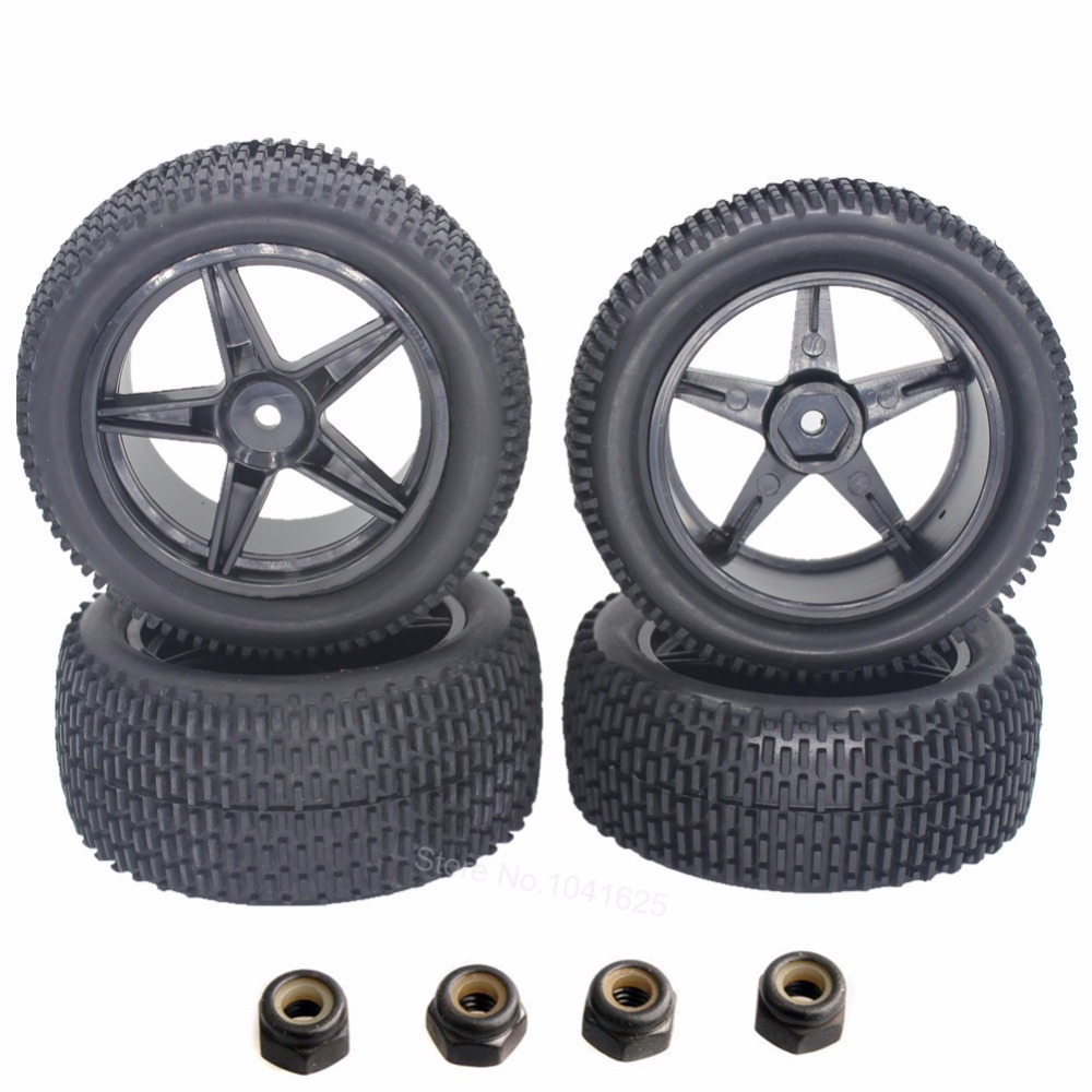 4pcs/Lot RC Buggy Tires Wheels 12mm Hex Hub Mount With Foam For RC 1/10 Off Road Car Electric Power HSP XSTR Pro 94107 цены онлайн