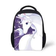 3D Newest Custom Cute Anime Unicorn Horse Printing Youngster Pencil Backpacks Daily Bags For Girls Boys Children School knapsack(China)