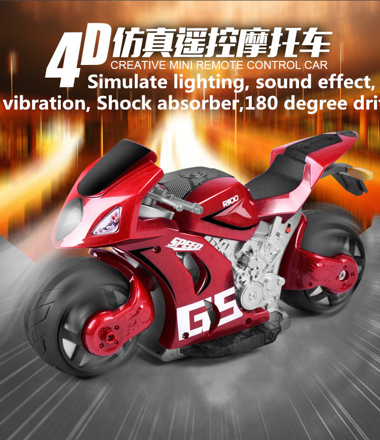 2016 New Big RC Motorcycle 27cm Original A9 1/12 2.4Ghz RC Remote Control Gravity induction 180 degree drift Car Motorcycle RTF hot sell a6 4d gravity induction rc remote control motorcycle electronic toy cars rechargeable drift dumpers promotional gifts