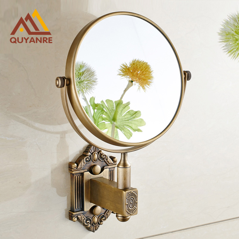 Bathroom Wall Mounted Extended Folding Arm Make Up Mirror Magnifying MirrorChina Mainland