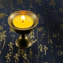None Lamp Holder Multi Size Candle Holder Tibetan Brass Butter Copper Oil Lamp Holder(China)