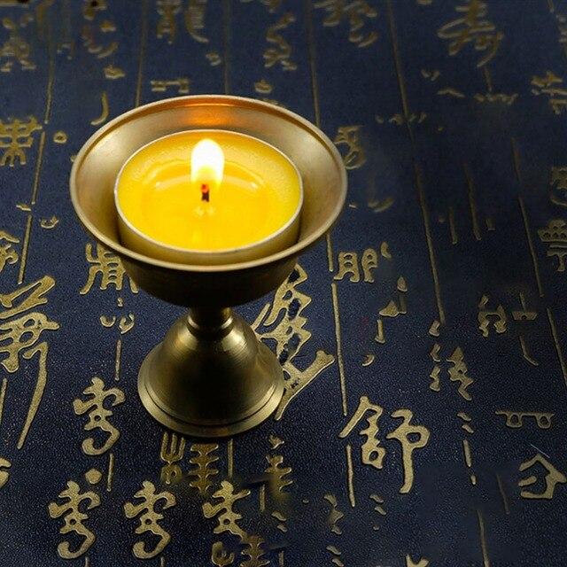 None Lamp Holder Multi Size Candle Holder Tibetan Brass Butter Copper Oil Lamp Holder