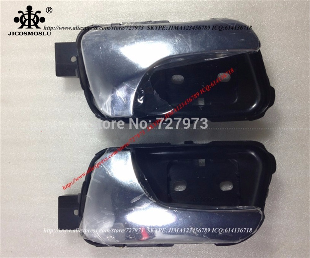 JICOSMOSLU: FRONT OR REAR LEFT+RIGHT DOOR INNER/INSIDE HANDLE WITH ELECTROPLATE CHROME FOR CHERY EASTAR CROSS EASTAR B11,B14,V5