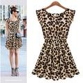 Леопарда платья супер-эластичный сексуальное платье жилет горячая распродажа ночной клуб ну вечеринку корсет платья S / M / L / XL бесплатная доставка
