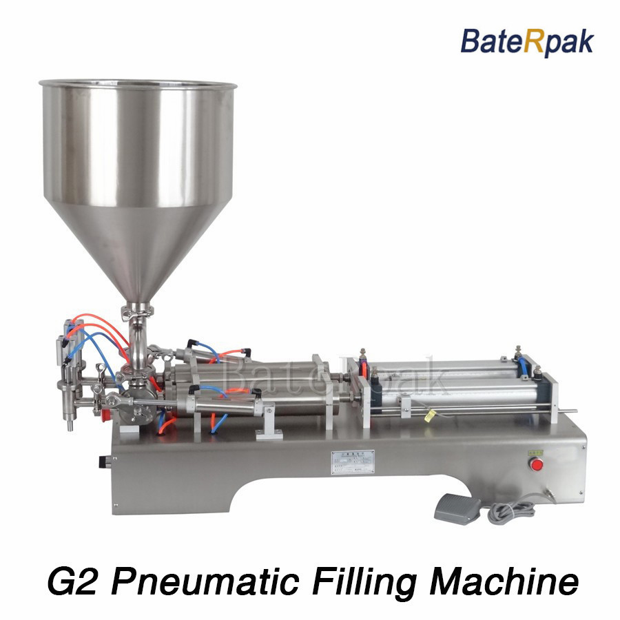 G2 Stainless steel horizontal pneumatic liquid filling machine,BateRpak double nozzle Paste filler,110V/220V
