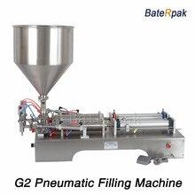 G2 Stainless steel horizontal pneumatic liquid filling machine,BateRpak double nozzle Paste filler,110V/220V