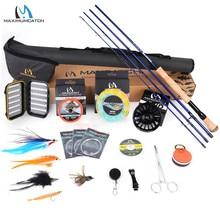Maximumcatch Predator 9ft 8 10WT Compleet Saltwater Fly Rod Reel Line Haken Accessoire Combo Volledige Sea Fly Fising Staaf Kit