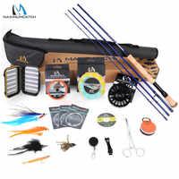 Maximumcatch Predator 9ft 8-10WT Complete Saltwater Fly Rod Reel Line Hooks Accessory Combo Full Sea Fly Fising Rod Kit