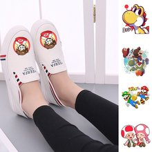 Cartoon Pattern Print  Super Mario Womens Casual Fashion Summer Low-Top Double-layer Canvas A193161