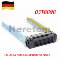 Heretom DE Shipping 03T8898-001 3.5 SAS/SATA Drive Caddy Tray For Lenovo RD650 RD550 RD450 RD350 TD450 TD350