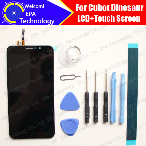 Cubot Dinosaur LCD Display With Touch Screen 100% Original Digitizer Assembly Repair Accessories For Dinosaur +tools+adhesive