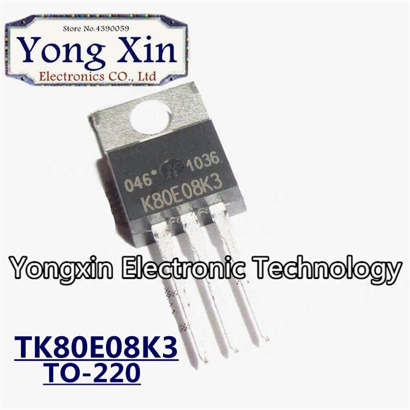 2pcs TK80E08K3 K80E08K3 TO-220