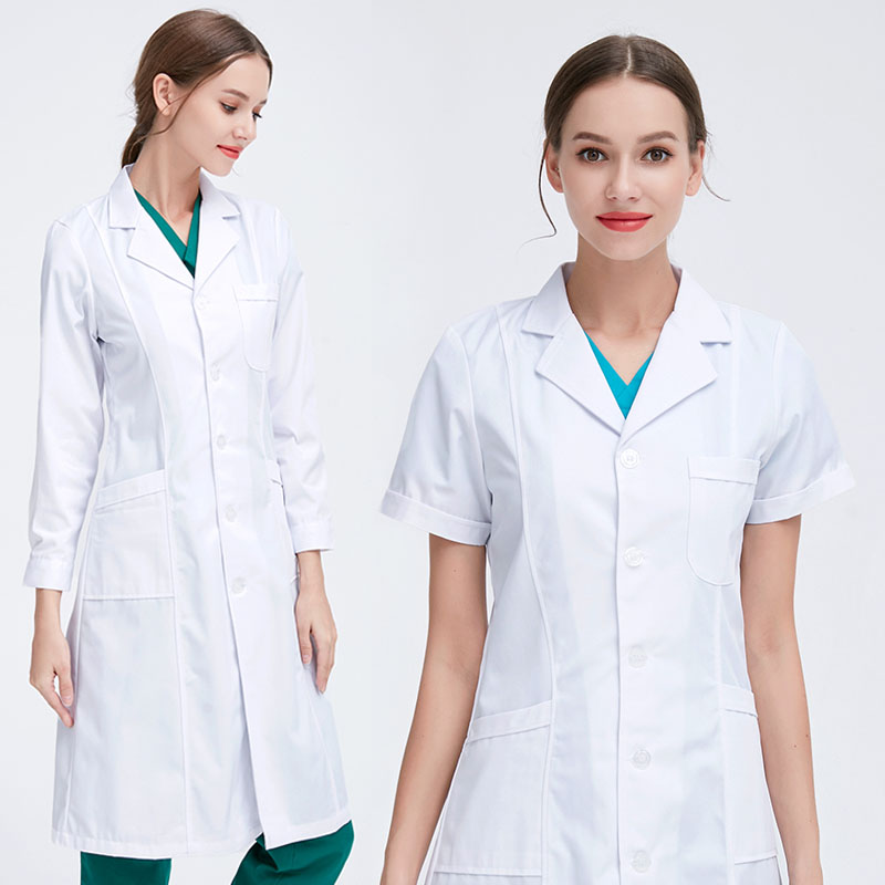 Doctor Service Female Male Physician Nurse Service Short Sleeve Long Sleeve Slim Thin Section Experimental Pharmacy Overalls