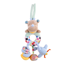 Plush Rattle Toy Hanging Baby Soft Snuggle Plush Rattle Toy, Play Activity Crib Stroller Musical Stuffed Animal Baby