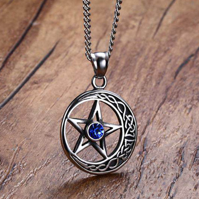 Online shop antique silver moon star pendants necklaces men antique silver moon star pendants necklaces men surgical steel rock stylish necklace jewelry 60cm chain mozeypictures Gallery