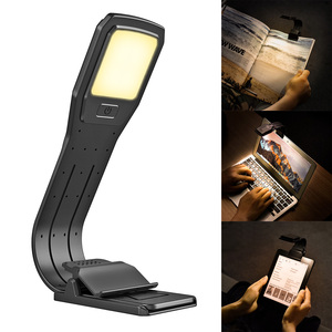 USB LED Reading Lamp Rechargeable LED Reading Clip Lamp Suit For Electronic Books Paper Books Reading Essential Eye Protectors(China)