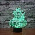 3D Tanque de Juguetes LED Táctil Lámpara de Mesa de Dormitorio de Los Niños Juguetes de Navidad 7 Colores Luz de La Noche del Día de San Valentín de Cumpleaños Gift-3D-TD201