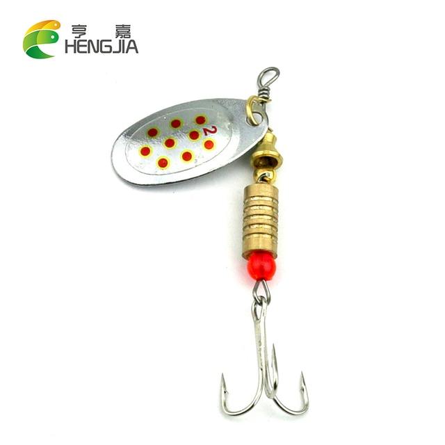 HENGJIA 1pcs Spoon Lure Hard Spinnerbait Metal Spinner Fishing Lures Pesca Swimbait Fishing Tackle