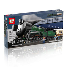 DHL In stock-NEW LEPIN 21005 1085pcs Technic Series Emerald Night Train Model Building Kit Minifigures Block Bricks legoe