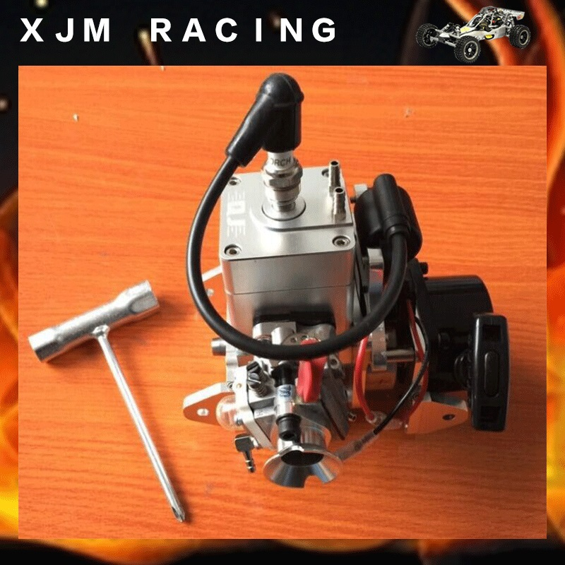 RC boat Gas Engine New CNC Competitive Edition 26CC rc boat engine for Racing Boat VS ZENOAH G290PUM aluminium tuned exhaust pipe for zenoah crrc rcmk petrol marine engine rc gas boat