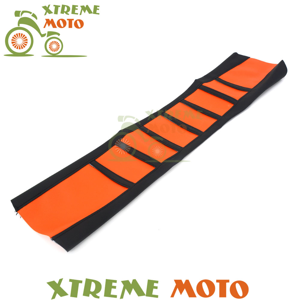 Orange Motorcycle Rubber Vinyl Gripper Soft Seat Cover For KTM SX SXF SMR EXC EXC-F XC XC-W XC-F 125 200 250 300 350 450 525 530 orange cnc billet factory oil filter cover for ktm sx exc xc f xcf w 250 400 450 520 525 540 950 990