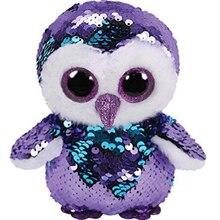 Ty Красочный Сова блесток плюшевая игрушка кукла лунный свет чучело животное с тегом 15 см