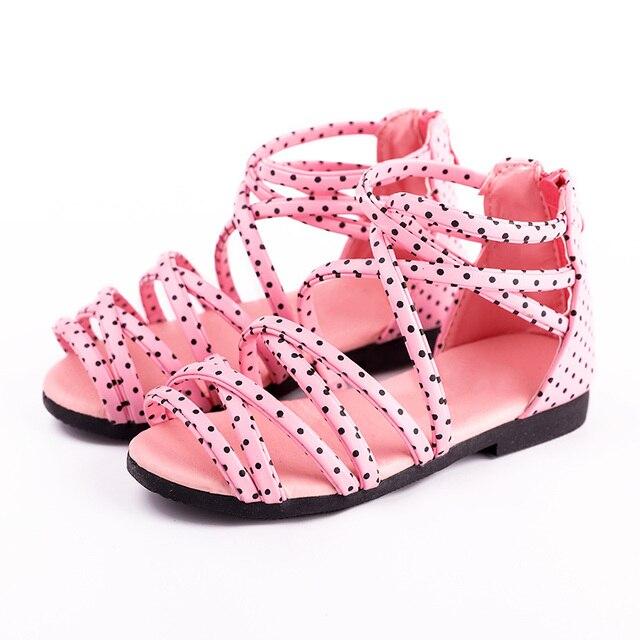 1eee3eaadc9caa New Summer Girls Sandals Children Shoes Toddler Kids Girls Princess Beach  Sandals Roman Kids Sandals Size