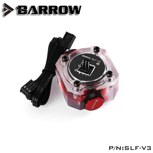 Barrow SLF-V3 G1/4 Water cooling system electronic Flow Sensor Indicator Access the motherboard to read data free shipping computer acc water cooling flow meter pom 2 ways g1 4 port female to female flow meter indicator for pc water cooling system