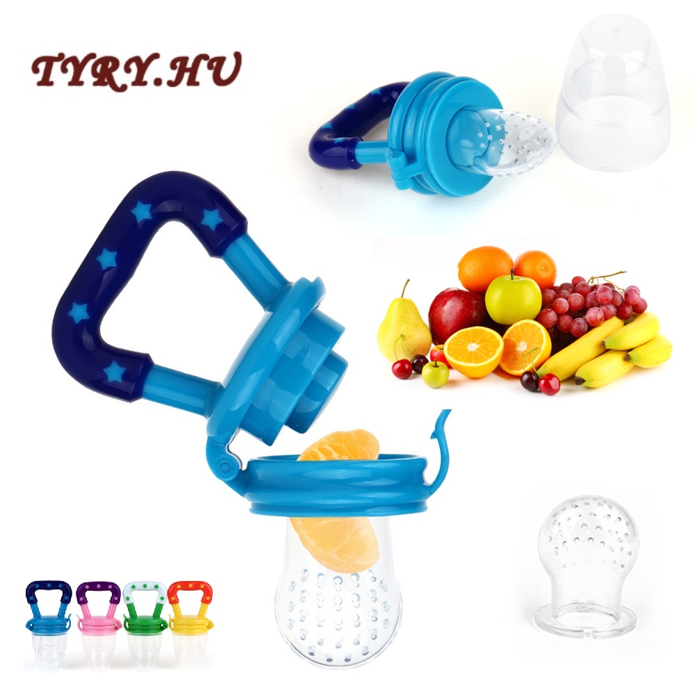 TYRY.HU 1PC Baby Teether Nipple Fruit Food Feeding Tool Silicona Pacifier Safety Feeder Bite Food BPA Free Silicone Teethers