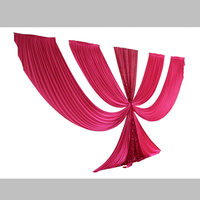 Hot Pink Ice Silk and Sequin Swag for Wedding Decoration Party Backdrop Decor 10 colors in stock