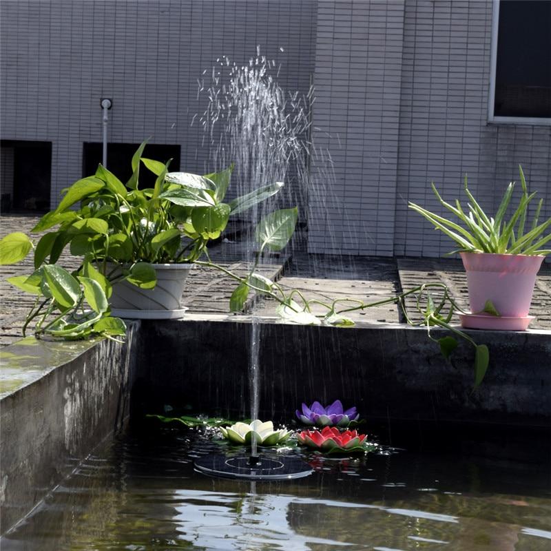 Solar Power Floating Fountain Water Pump for Garden Pond Pool Fish Tank Landscape Pool Garden Solar Power Decorative Fountain