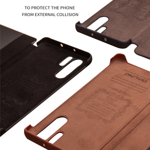 Image 5 - QIALINO Fashion Genuine Leather Flip Case for Huawei P30 Pro 6.47 inch Handmade Phone Cover with Smart Window for Huawei P30