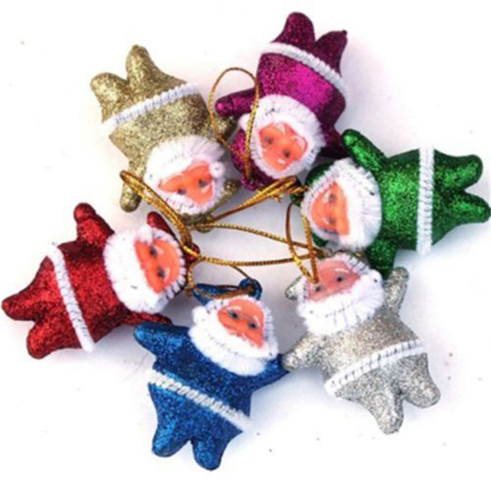 Christmas tree hanging decorations new parachute santa claus snowman - 6pcs New Year Christmas Decoration Supplies Indoor Christmas Tree Hanging Santa Claus Ornaments For Home