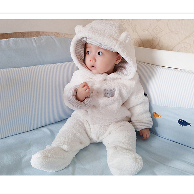 Baby Romper New Born Boys Girls Babies Winter Clothes 3 12 Months